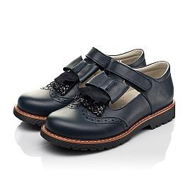 Детские туфли Woopy Fashion синие для девочек натуральная кожа размер 34-39 (7003) Фото 3