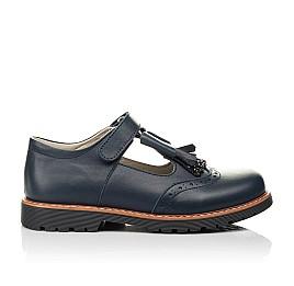 Детские туфли Woopy Fashion синие для девочек натуральная кожа размер 34-39 (7003) Фото 4