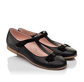 Детские туфли Woopy Fashion черные для девочек натуральная кожа размер 29-38 (7004) Фото 1