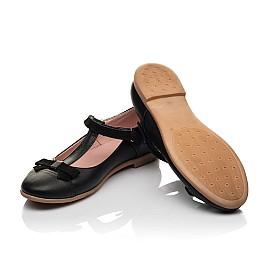 Детские туфли Woopy Fashion черные для девочек натуральная кожа размер 29-38 (7004) Фото 2