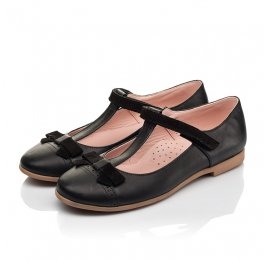 Детские туфли Woopy Fashion черные для девочек натуральная кожа размер 29-38 (7004) Фото 3