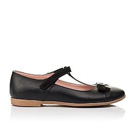 Детские туфли Woopy Fashion черные для девочек натуральная кожа размер 29-38 (7004) Фото 4