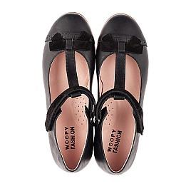 Детские туфли Woopy Fashion черные для девочек натуральная кожа размер 29-38 (7004) Фото 5