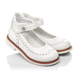 Детские туфли Woopy Orthopedic белые для девочек натуральная лаковая кожа размер 24-36 (7007) Фото 1