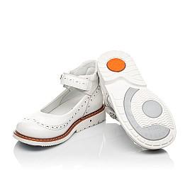 Детские туфли Woopy Orthopedic белые для девочек натуральная лаковая кожа размер 24-36 (7007) Фото 2