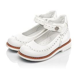Детские туфли Woopy Orthopedic белые для девочек натуральная лаковая кожа размер 24-36 (7007) Фото 3