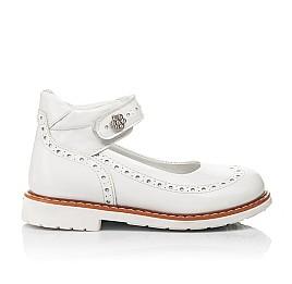 Детские туфли Woopy Orthopedic белые для девочек натуральная лаковая кожа размер 24-36 (7007) Фото 4