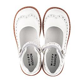 Детские туфли Woopy Orthopedic белые для девочек натуральная лаковая кожа размер 24-36 (7007) Фото 5