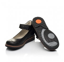 Детские туфли Woopy Orthopedic черные для девочек натуральная кожа размер 29-36 (7008) Фото 2