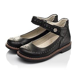 Детские туфли Woopy Orthopedic черные для девочек натуральная кожа размер 29-36 (7008) Фото 3