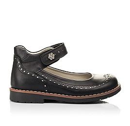 Детские туфли Woopy Orthopedic черные для девочек натуральная кожа размер 29-36 (7008) Фото 4