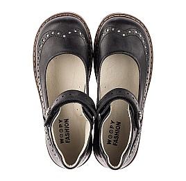 Детские туфли Woopy Orthopedic черные для девочек натуральная кожа размер 29-36 (7008) Фото 5