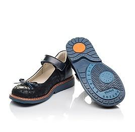 Детские туфли Woopy Orthopedic темно-синие для девочек натуральные кожа и нубук размер 25-36 (7009) Фото 2