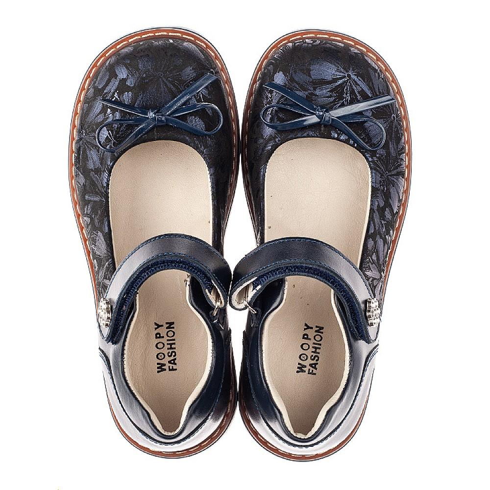 Детские туфли Woopy Orthopedic темно-синие для девочек натуральные кожа и нубук размер 25-36 (7009) Фото 5
