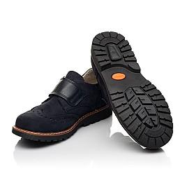 Детские туфли Woopy Fashion синие для мальчиков натуральный нубук размер 31-37 (7010) Фото 2