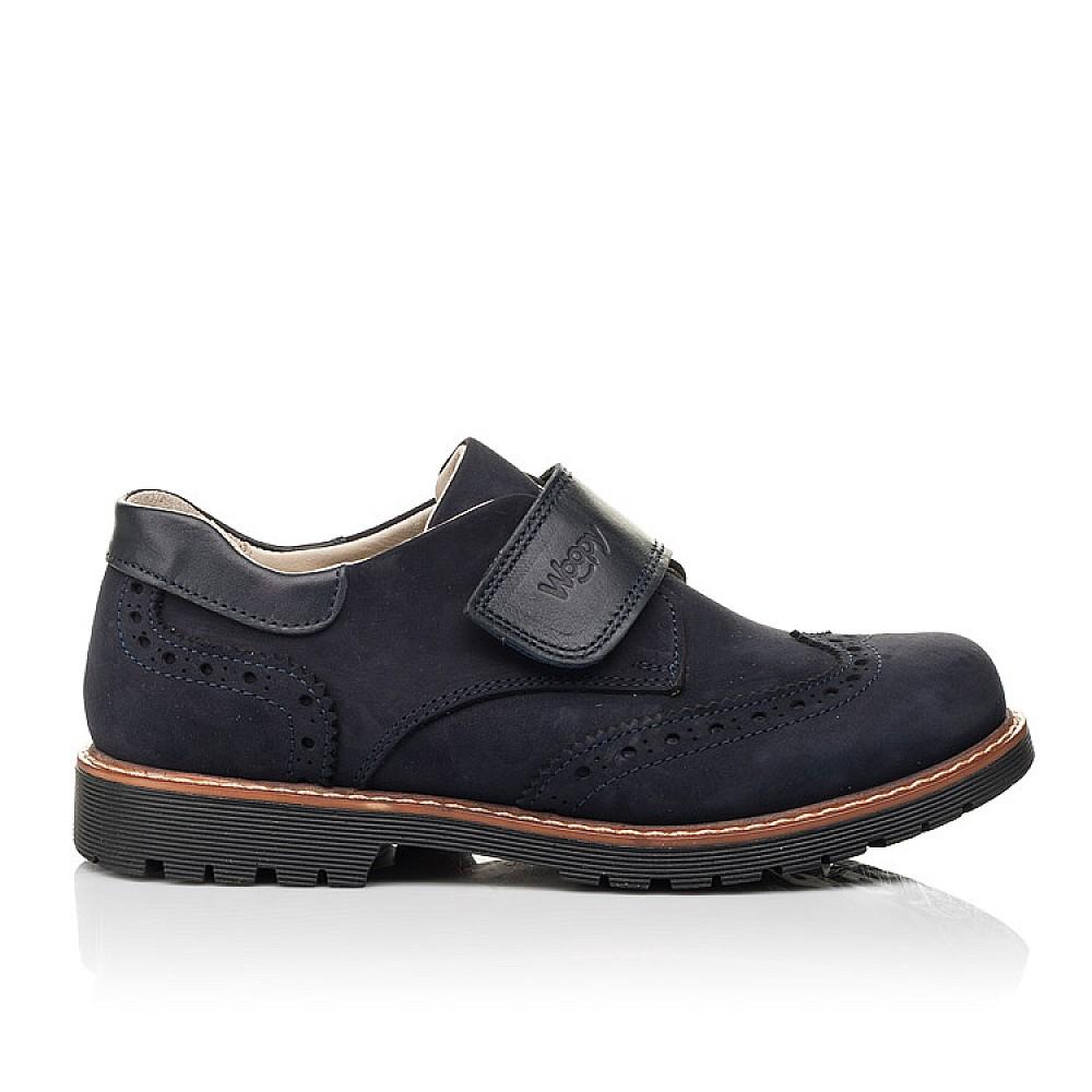 Детские туфли Woopy Fashion синие для мальчиков натуральный нубук размер 31-38 (7010) Фото 4