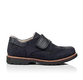 Детские туфли Woopy Fashion синие для мальчиков натуральный нубук размер 31-37 (7010) Фото 4