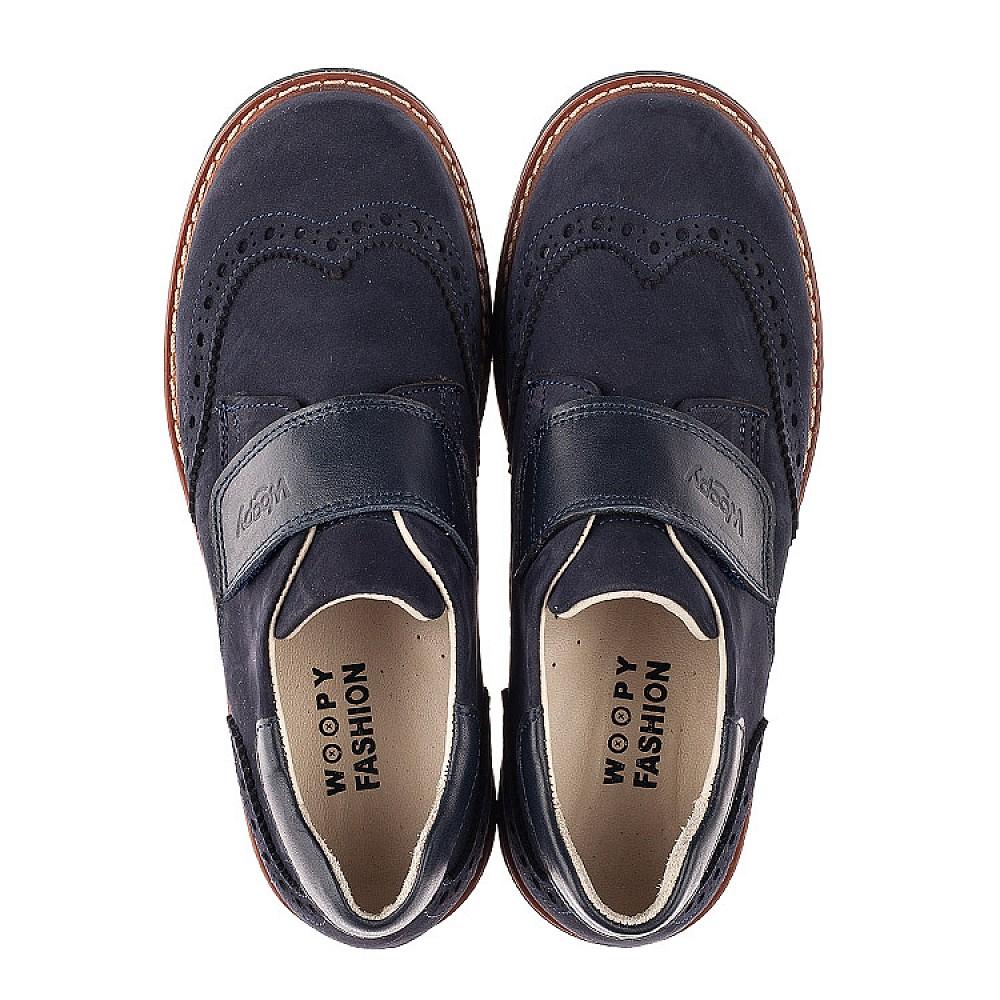 Детские туфли Woopy Fashion синие для мальчиков натуральный нубук размер 31-38 (7010) Фото 5