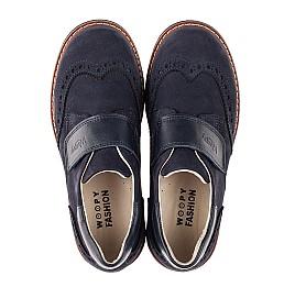 Детские туфли Woopy Fashion синие для мальчиков натуральный нубук размер 31-37 (7010) Фото 5