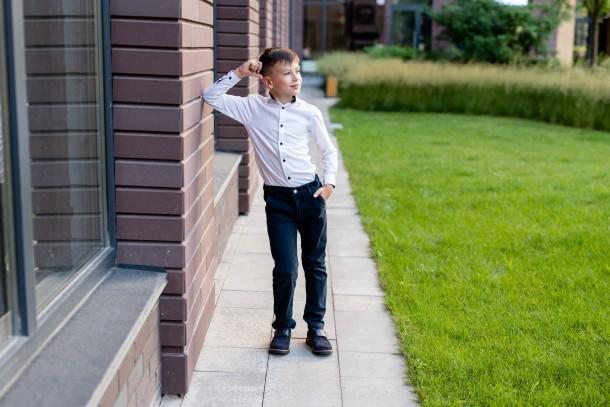 Мальчик обут в детские туфли Woopy Fashion синие (7010) Фото 1