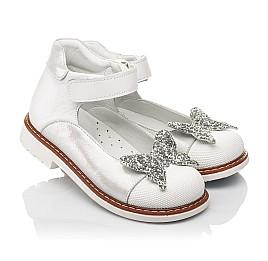 Детские туфли Woopy Orthopedic белые для девочек натуральные кожа и нубук размер 24-33 (7011) Фото 1