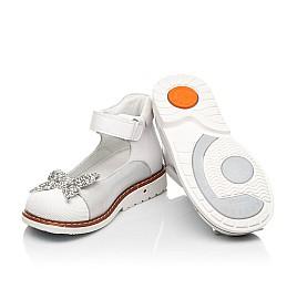 Детские туфли Woopy Orthopedic белые для девочек натуральные кожа и нубук размер 23-33 (7011) Фото 2