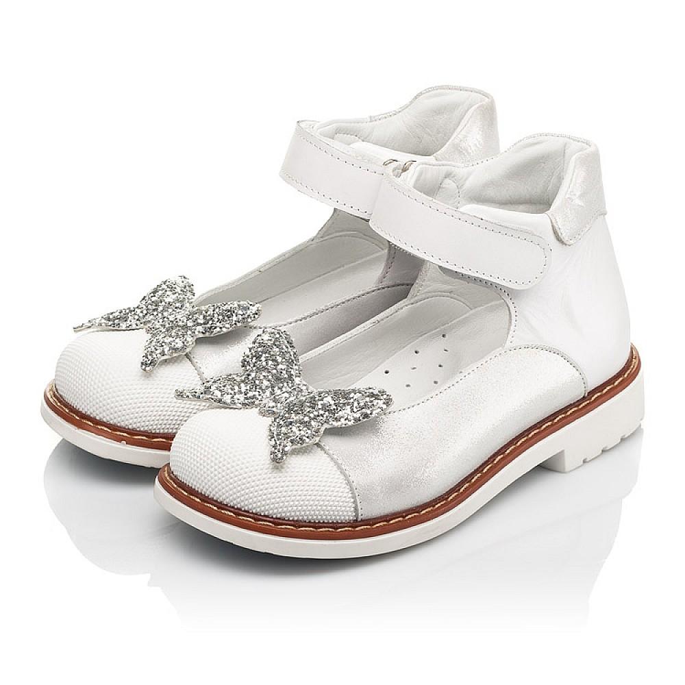 Детские туфли Woopy Orthopedic белые для девочек натуральные кожа и нубук размер 23-33 (7011) Фото 3