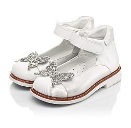 Детские туфли Woopy Orthopedic белые для девочек натуральные кожа и нубук размер 24-33 (7011) Фото 3