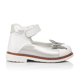 Детские туфли Woopy Orthopedic белые для девочек натуральные кожа и нубук размер 24-33 (7011) Фото 4