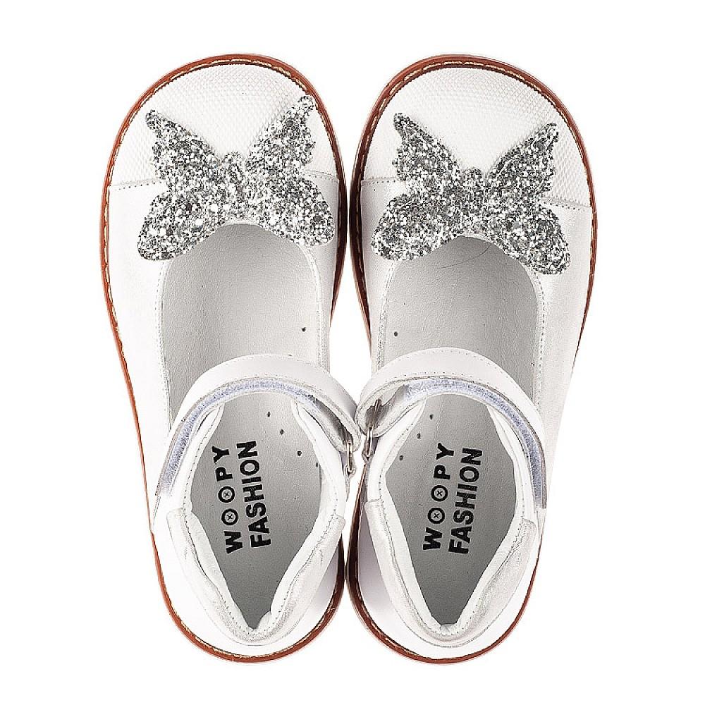 Детские туфли Woopy Orthopedic белые для девочек натуральные кожа и нубук размер 23-33 (7011) Фото 5