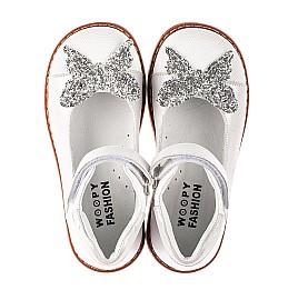 Детские туфли Woopy Orthopedic белые для девочек натуральные кожа и нубук размер 24-33 (7011) Фото 5