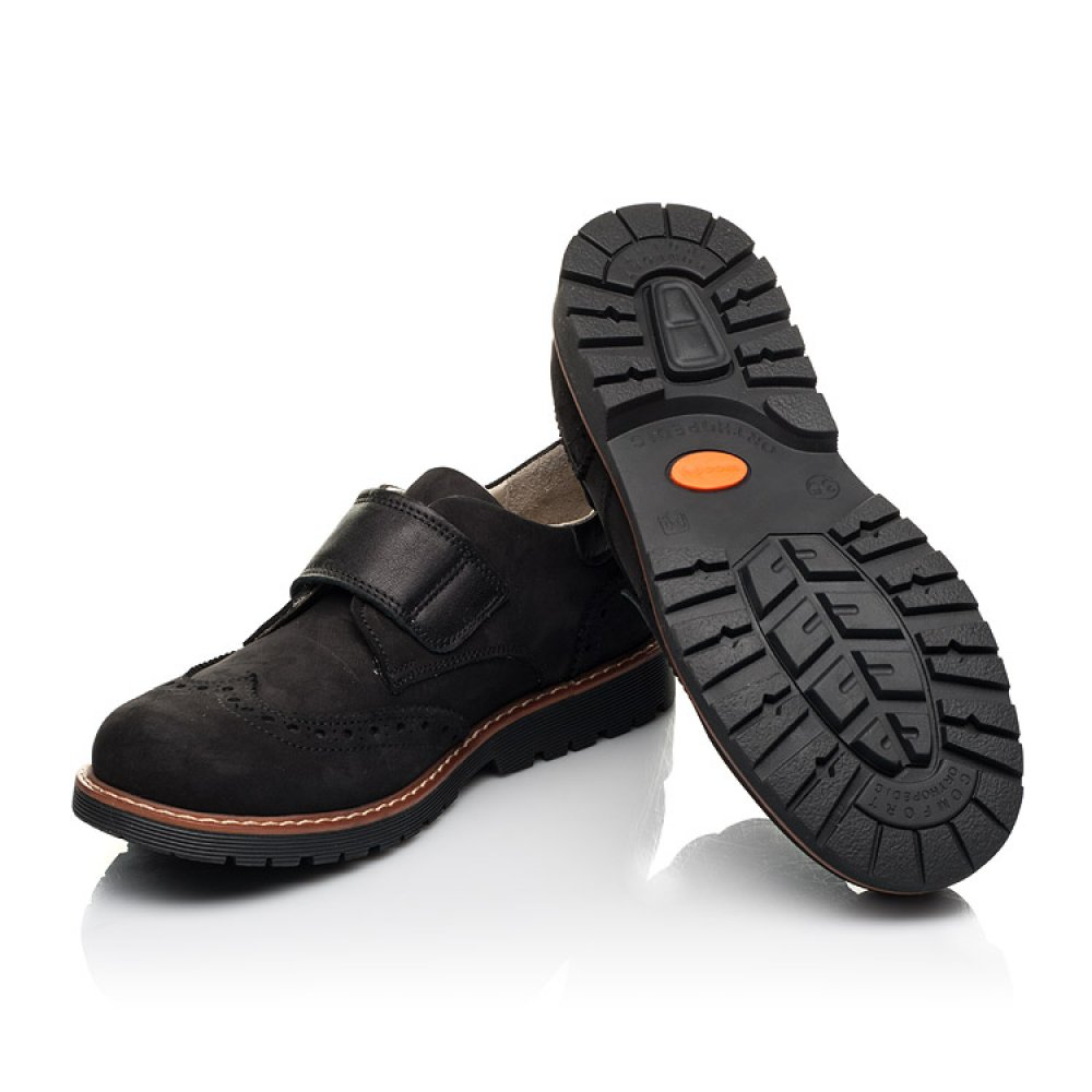 Детские туфли Woopy Fashion черные для мальчиков натуральный нубук размер 31-38 (7012) Фото 2