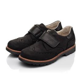 Детские туфли Woopy Fashion черные для мальчиков натуральный нубук размер 31-38 (7012) Фото 3