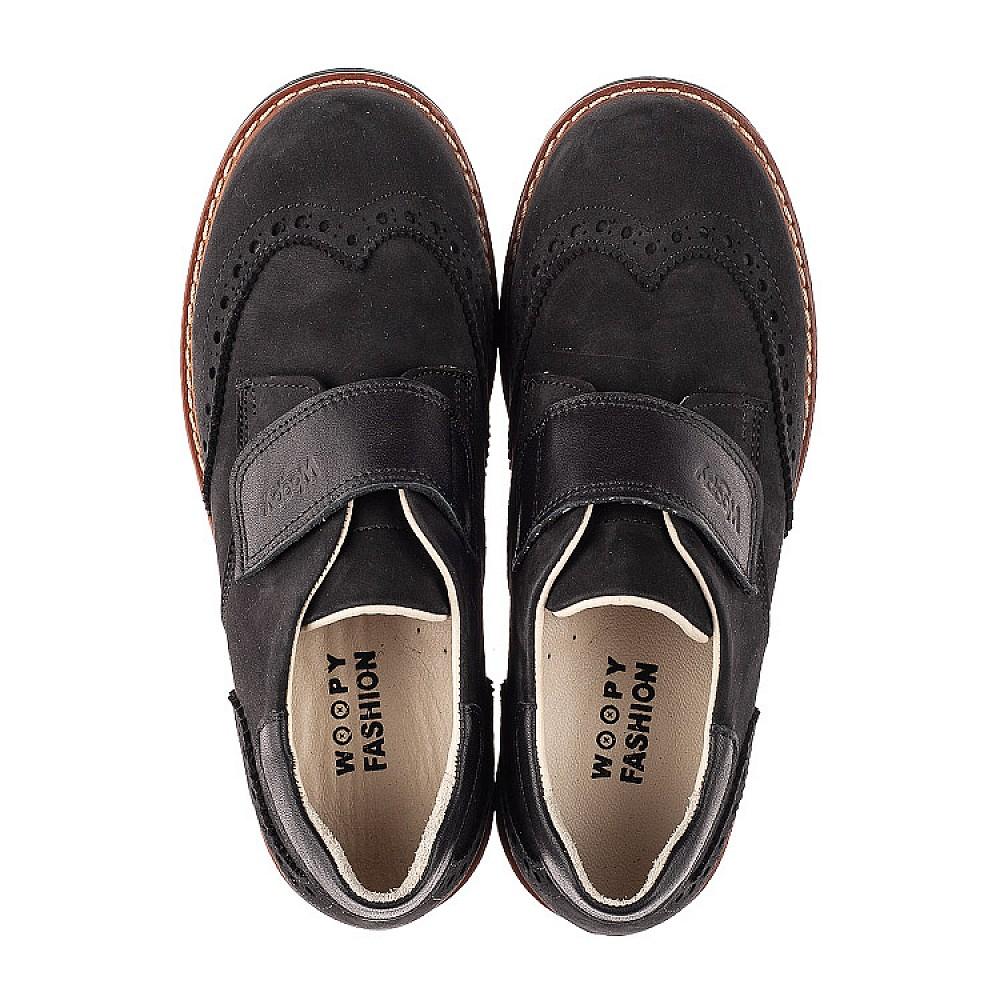 Детские туфли Woopy Fashion черные для мальчиков натуральный нубук размер 31-38 (7012) Фото 5