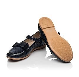 Детские туфли Woopy Fashion синие для девочек натуральная лаковая кожа размер 28-37 (7013) Фото 2
