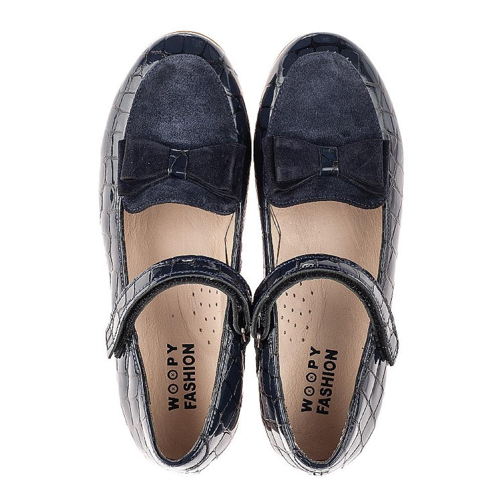 Детские туфли Woopy Fashion синие для девочек натуральная лаковая кожа размер 28-37 (7013) Фото 5