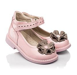Детские туфли Woopy Orthopedic розовые для девочек натуральная лаковая кожа размер 25-33 (7014) Фото 1
