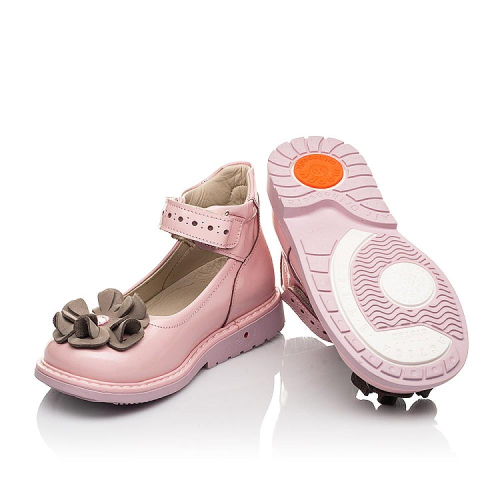 Детские туфли Woopy Orthopedic розовые для девочек натуральная лаковая кожа размер 24-33 (7014) Фото 2