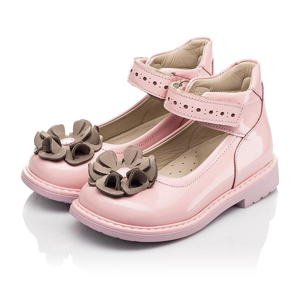 Детские туфли Woopy Orthopedic розовые для девочек натуральная лаковая кожа размер 24-33 (7014) Фото 3