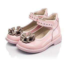 Детские туфли Woopy Orthopedic розовые для девочек натуральная лаковая кожа размер 25-33 (7014) Фото 3