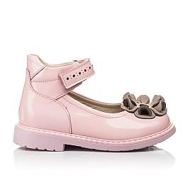 Детские туфли Woopy Orthopedic розовые для девочек натуральная лаковая кожа размер 25-33 (7014) Фото 4