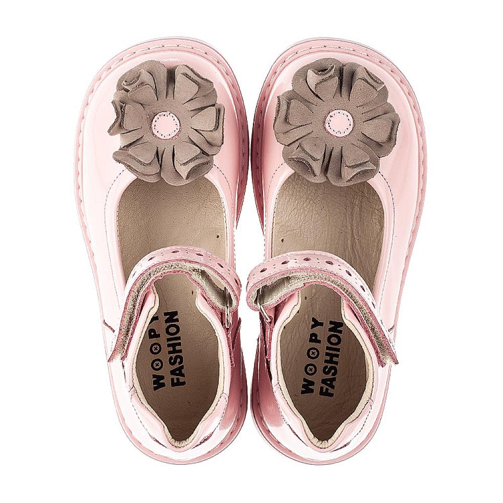 Детские туфли Woopy Orthopedic розовые для девочек натуральная лаковая кожа размер 24-33 (7014) Фото 5