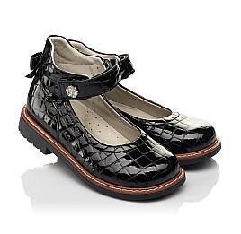 Детские туфли Woopy Orthopedic черные для девочек натуральная лаковая кожа размер 29-36 (7015) Фото 1