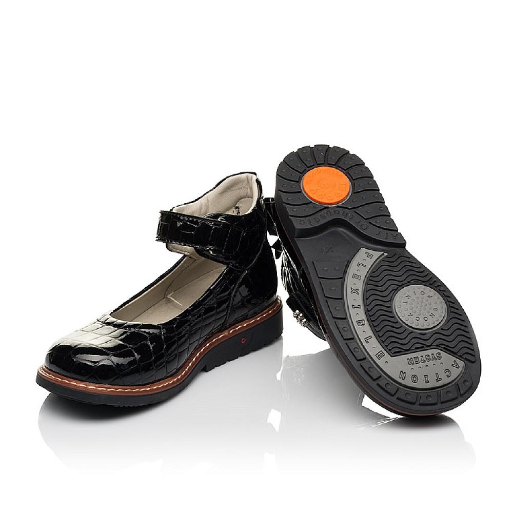 Детские туфли Woopy Orthopedic черные для девочек натуральная лаковая кожа размер 29-36 (7015) Фото 2
