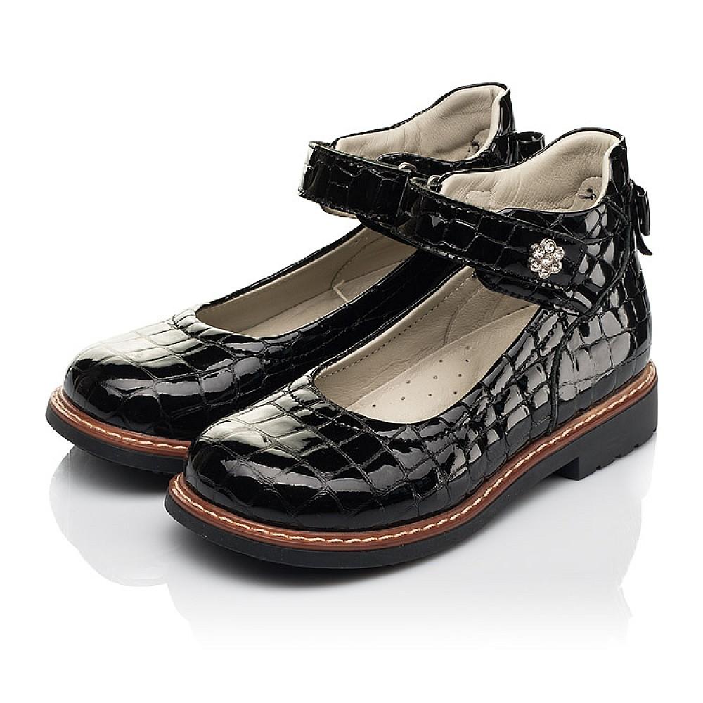 Детские туфли Woopy Orthopedic черные для девочек натуральная лаковая кожа размер 29-36 (7015) Фото 3