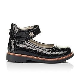 Детские туфли Woopy Orthopedic черные для девочек натуральная лаковая кожа размер 29-36 (7015) Фото 4
