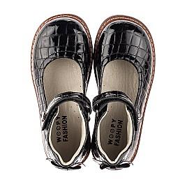 Детские туфли Woopy Orthopedic черные для девочек натуральная лаковая кожа размер 29-36 (7015) Фото 5