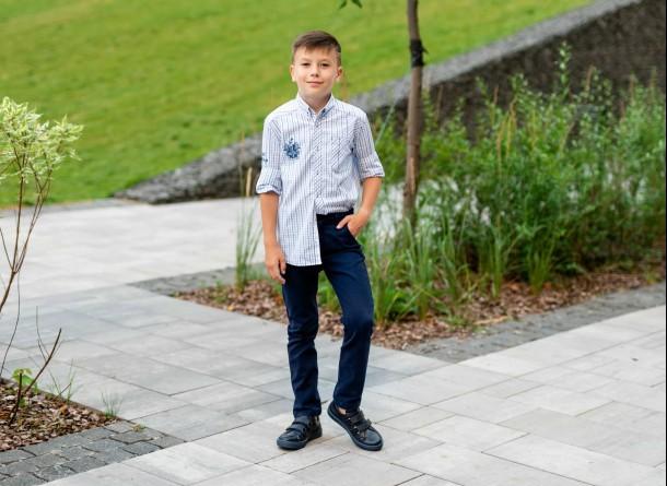 Мальчик обут в детские кеды Woopy Fashion синие (7016) Фото 1