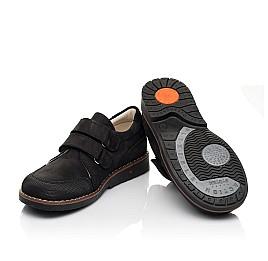 Детские туфли Woopy Orthopedic черные для мальчиков натуральный нубук размер 30-36 (7017) Фото 2