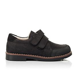 Детские туфли Woopy Orthopedic черные для мальчиков натуральный нубук размер 30-36 (7017) Фото 4